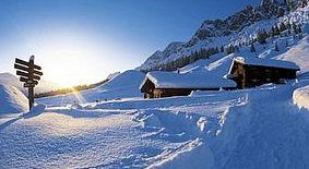 Österreich Skilanglaufen am Dachstein auf dem Sonnenplateau